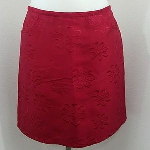 INC International Concepts Red Mini Skirt